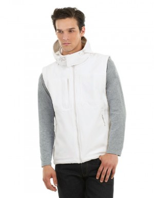 B+C Hooded Softshell Gilet / Men