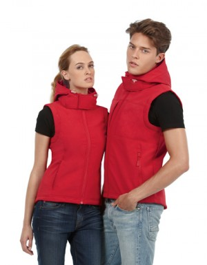 B+C Hooded Softshell Gilet / Women