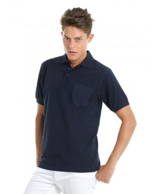 B+C Polo Safran Pocket / Unisex