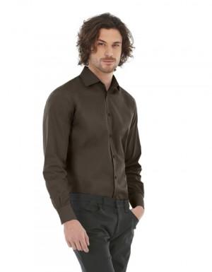 B+C Poplin Shirt Black Tie Long Sleeve