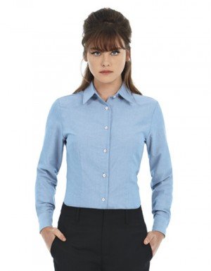 B+C Women´s Oxford Shirt Long Sleeve