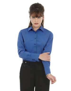 B+C Women´s Poplin Shirt Heritage Long Sleeve