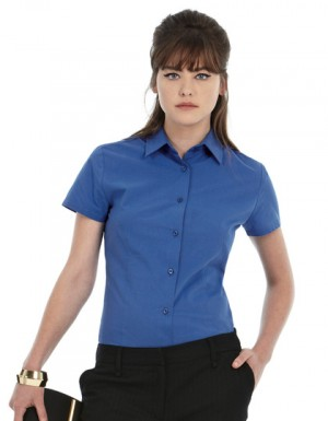 B+C Women´s Poplin Shirt Heritage Short Sleeve