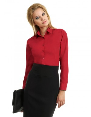 B+C Women´s Poplin Shirt Smart Long Sleeve