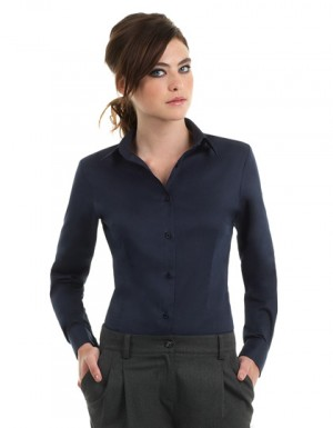 B+C Women´s Twill Shirt Sharp Long Sleeve