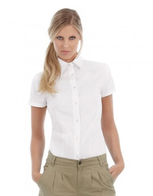 B+C Women´s Twill Shirt Sharp Short Sleeve