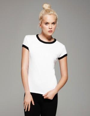 Bella Short Sleeve Ringer T-Shirt