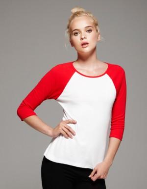Bella 3/4-Sleeve Contrast Raglan T-Shirt