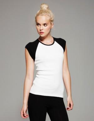 Bella Cap Sleeve Contrast Raglan T-Shirt