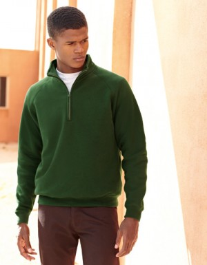 Fruit of the Loom New Zip Neck Sweat