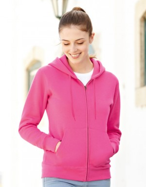 Fruit of the Loom New Lady-Fit Hooded Sweat Jacket