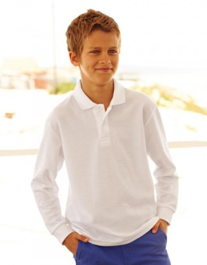 Fruit of the Loom Long Sleeve 65/35 Polo Kids