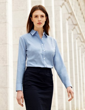 Fruit of the Loom Lady-Fit Long Sleeve Oxford Blouse