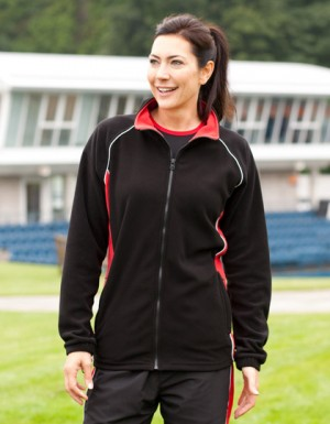 Finden+Hales Ladies Piped Microfleece