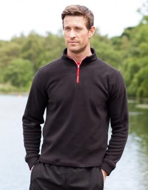 Finden+Hales 1/4 Zip Long Sleeved Fleece Piped