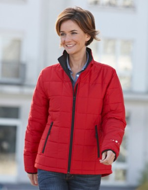 James+Nicholson Ladies Padded Jacket