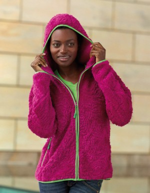 James+Nicholson Ladies´ Structure Fleece Hoody