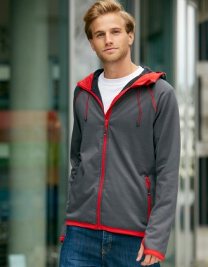 James+Nicholson Men´s Hooded Fleece