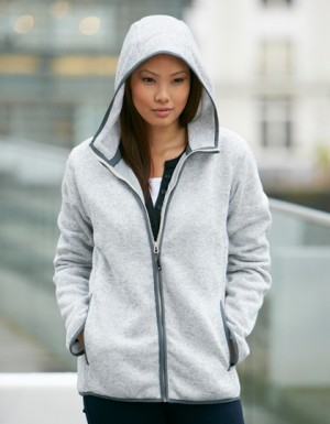 James+Nicholson Ladies Knitted Fleece Hoody