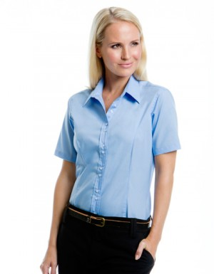 Kustom Kit Womens City Business Shirt Short Sleeved