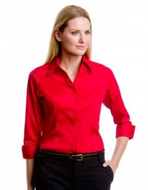 Kustom Kit Women´s Corporate Oxford Shirt 3/4-Sleeve