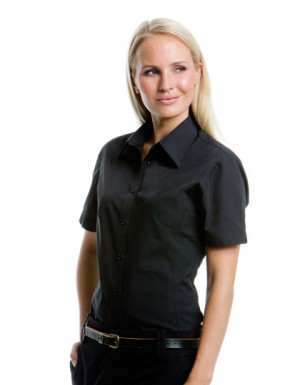 Kustom Kit Poplin Continental Blouse Short Sleeved