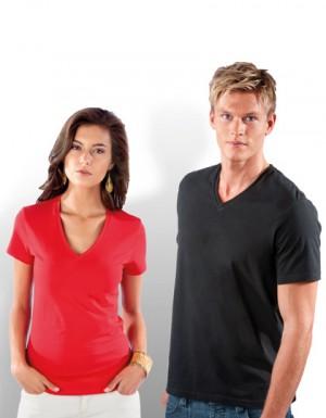 Kariban Electra Damen T-Shirt mit V-Ausschnitt