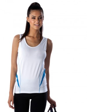 Kariban Ärmelloses Damen Bicolor Sport-T-Shirt