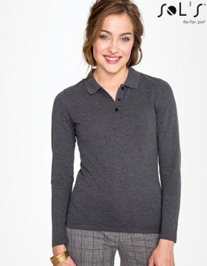 SOL´S Womens Long-Sleeve Piqué Polo Shirt Perfect