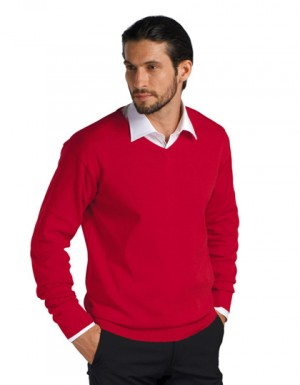 SOL´S Mens V Neck Sweater Galaxy
