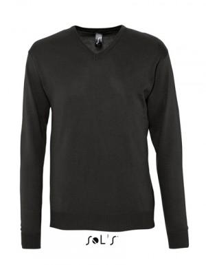 SOL´S Mens V Neck Sweater Galaxy