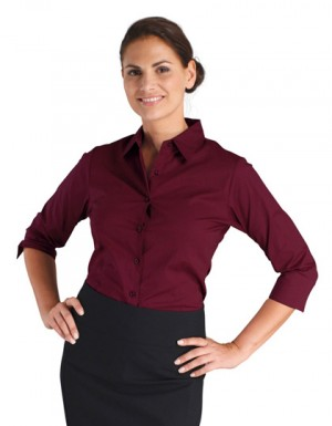 SOLS Damen Stretch-3/4-Armbluse Effect