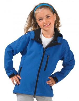 SOLS Kids Hooded Softshell Jacke Replay