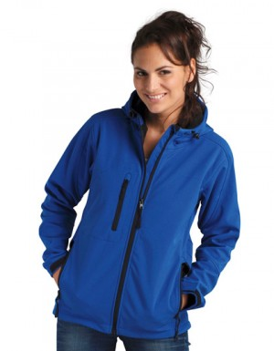 SOLS Womens Hooded Softshell Jacket Replay