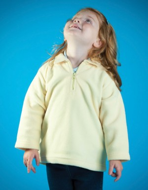 Larkwood Kids Zip-Neck Micro Fleece