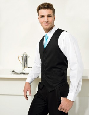 Premier Workwear Herren Gastro Weste