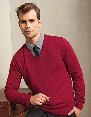 Premier Workwear Mens V-Neck Knitted Sweater