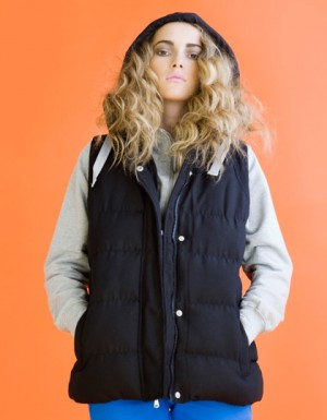 SF Women Ladies Gilet With Detachable Hood