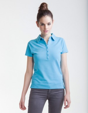SF Women Ladies Short Sleeve Stretch Polo