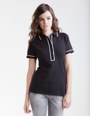 SF Women Ladies Contrast Piped Polo