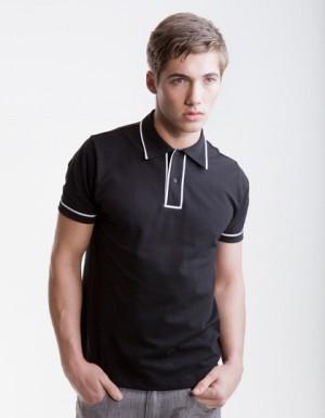 SF Men Mens Contrast Piped Polo Shirt