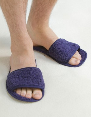 Towel City Classic Terry Slippers - Open Toe