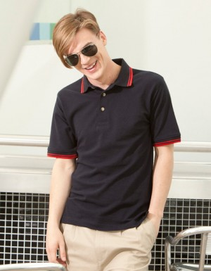 Henbury Tipped Collar And Cuff Polo