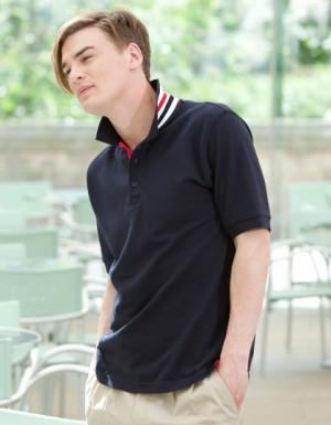 Henbury Men´s Stripe Collar Polo