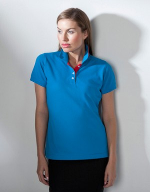 Henbury Ladies Contrast Polo 65/35