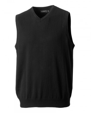 Russell Collection Men´s V-Neck Sleeveless Knitted Jumper