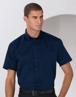 Russell Collection Kurzärmeliges Twill-Hemd