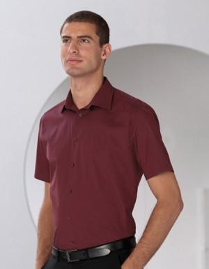 Russell Collection Kurzärmeliges körperbetontes Hemd