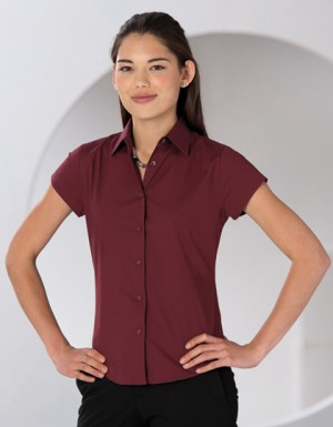 Russell Collection Stretchy Bluse Kurzarm