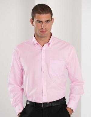 Russell Collection Bügelfreies langärmeliges Herrenhemd